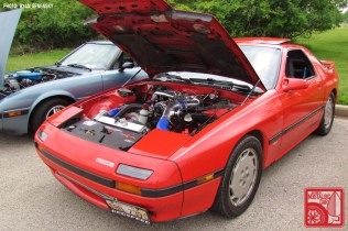 Mazda RX7 Red FC Turbo 2 Front Three Quarter Team_Nostalgic Chicago