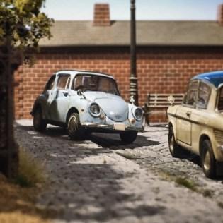 Takupon0816_Subaru 360 & Mazda Carol diorama