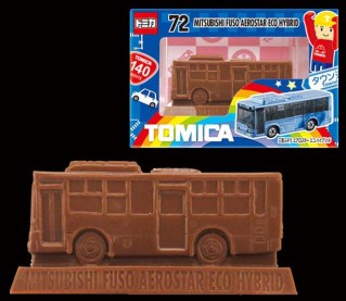 Tomica chocolate 2017 Mitsubishi Fuso Ecostar Hybrid Bus