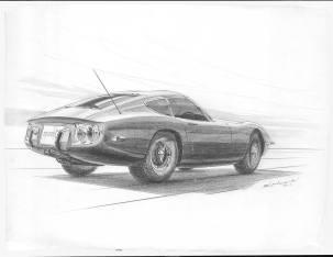 Toyota 2000GT Satoru Nozaki sketch 03