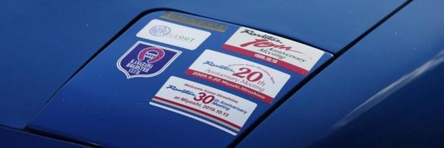 Mazda Roadster Anniversary stickers