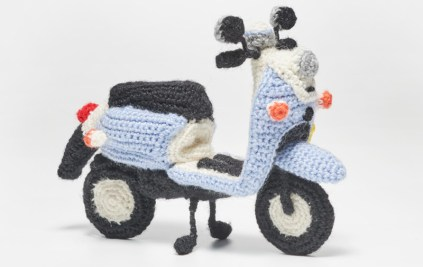 Yamaha Vino scooter knit yarn blue02