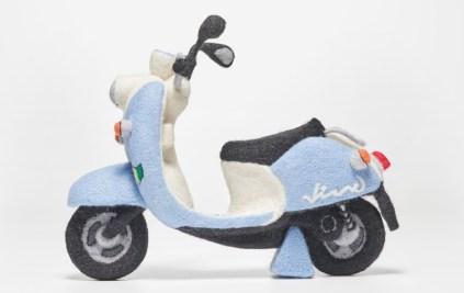 Yamaha Vino scooter needle felt blue03