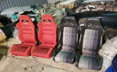 Mazda RX7 FD3S Mazdaspeed seats honey hole Kansas