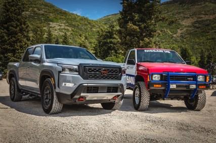 NissanFrontier2022 & HardbodyD21 race truck 01
