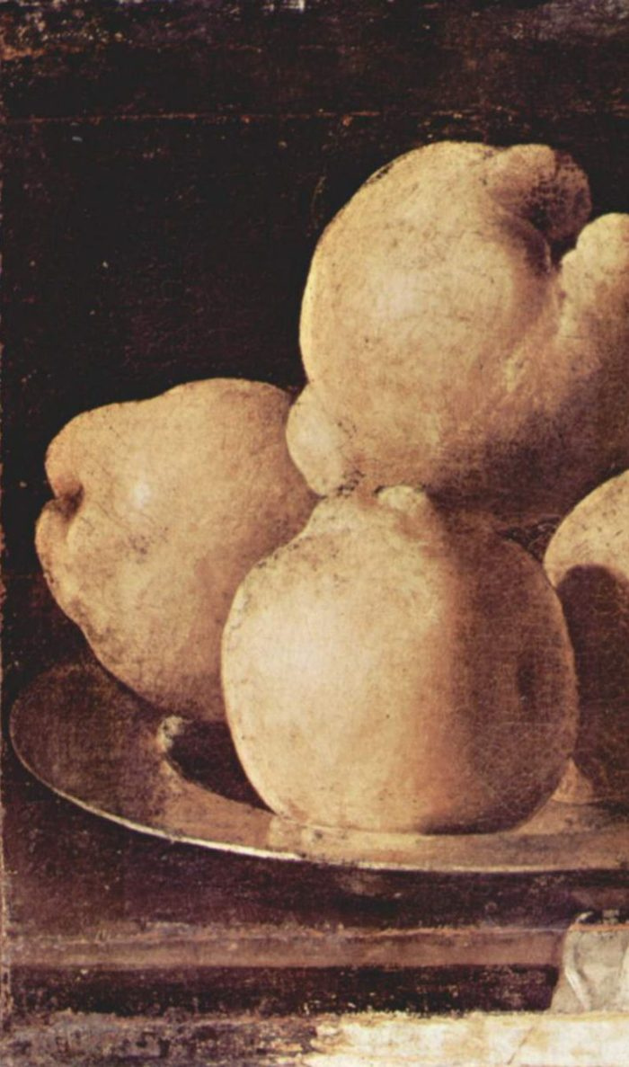 Still-Life with Dish of Quince (detail), Francisco de Zurbarán, between 1633 and 1664 Barcelona, Museu Nacional dArt de Catalunya