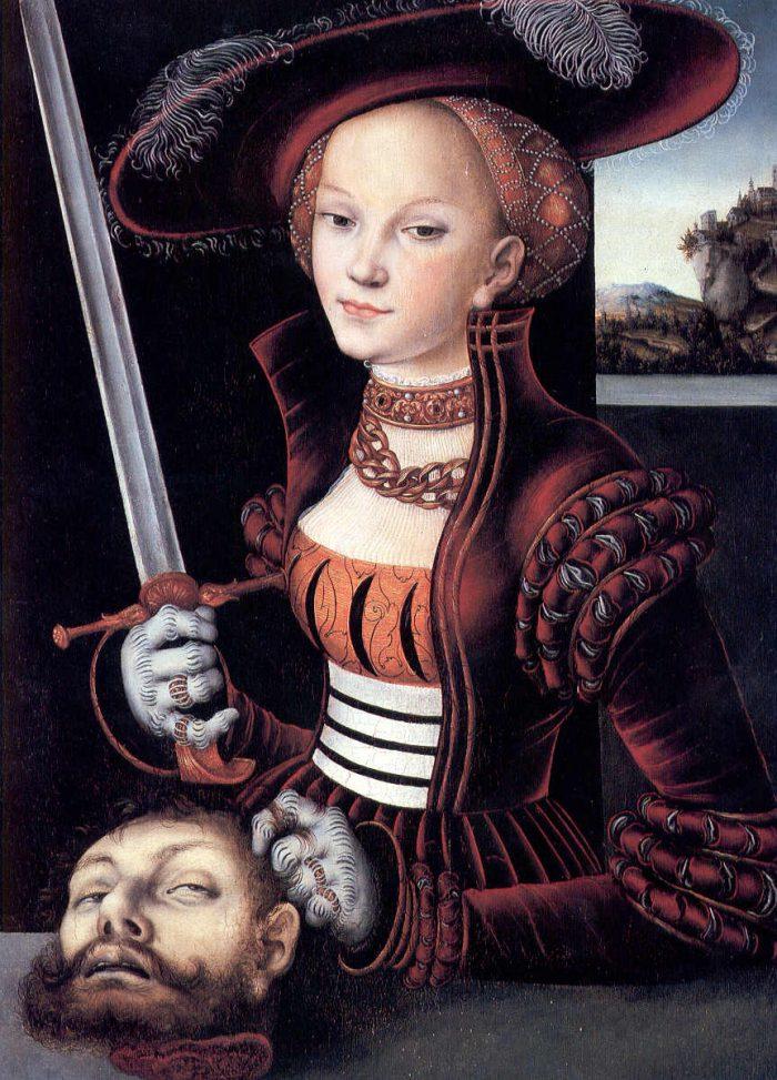 """""""Judith with the Head of Holofernes by Lucas Cranach the Elder"""", 1530 (Jagdschloss Grunewald, Berlin)"""