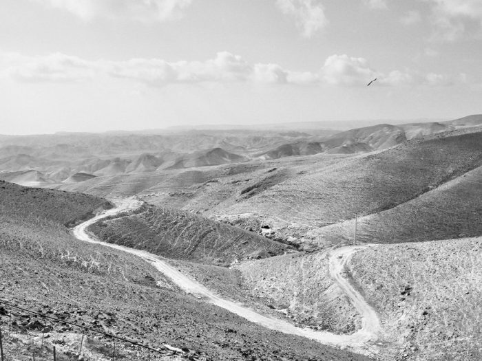 Desert road near Arad