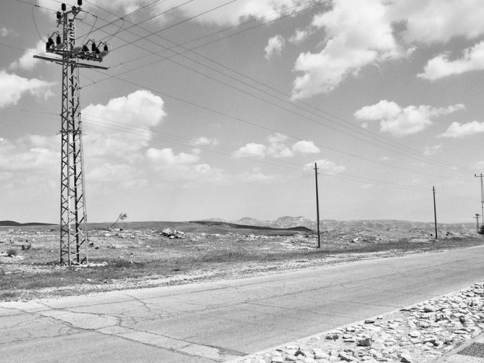 On the road to Arad – utility lines