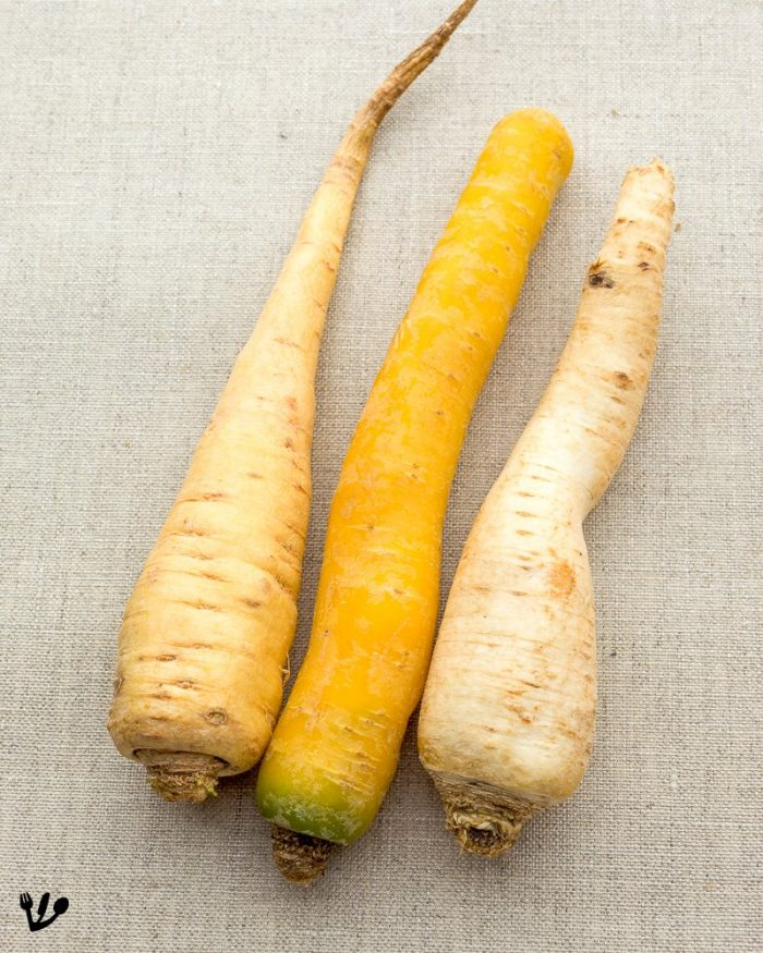 Root vegetables like parsnip, parsley root and yellow turnip for tafelspitz.  Don't worry, all can be easily substituted.  Just see the recipe below.