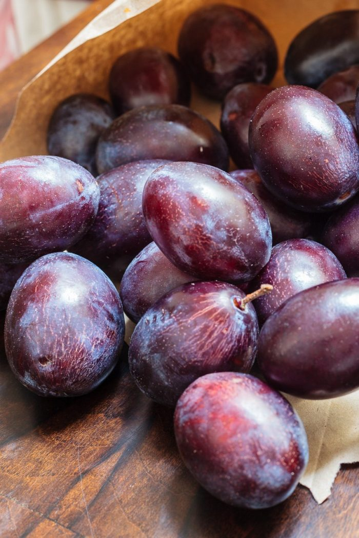 "The famous ""Hauszwetschke"" plum, the fruitiest local variety."