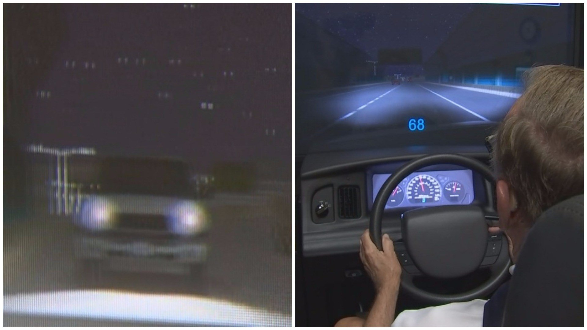 Simulation of a wrong-way driving situation (Source: 3TV/CBS 5)