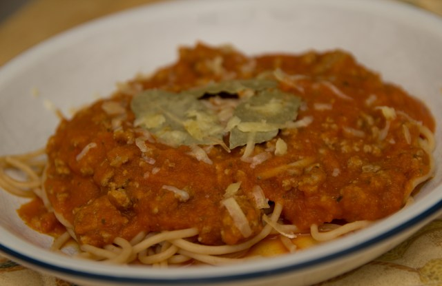 Spaghetti Bolognese (with hidden healthiness!)