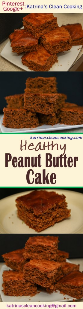 Healthy Peanut Butter Cake