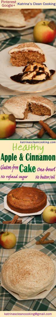 Healthy Apple Cinnamon Cake #Healthy #Applecake #Cinnamoncake