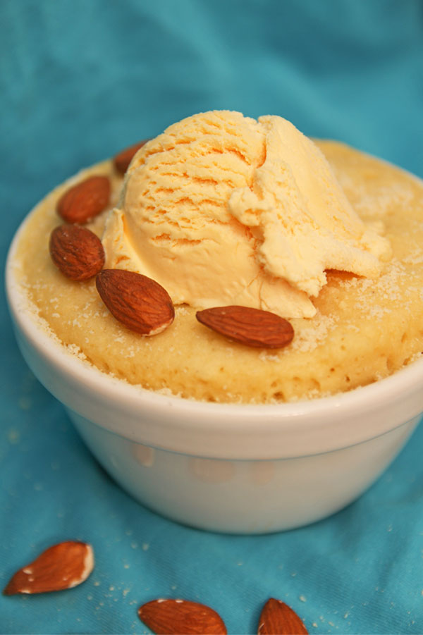 Healthy Almond Mug Cake - Soft & Fluffy!
