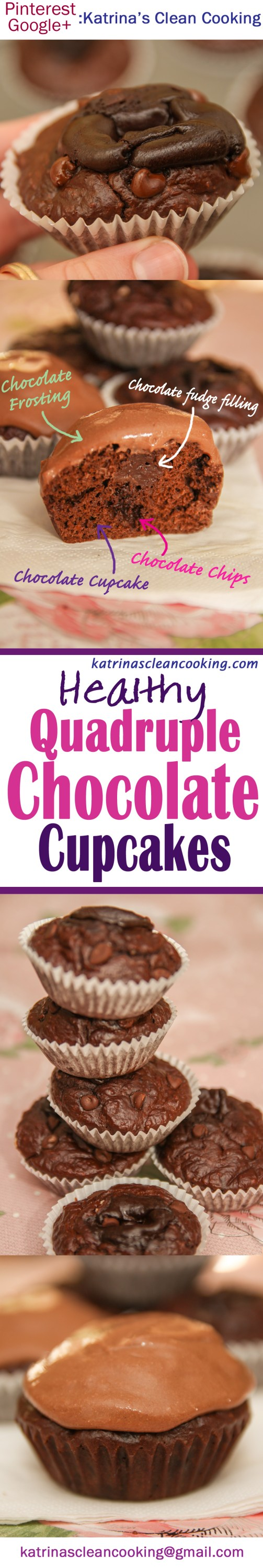 Healthy Quadruple Chocolate Cupcakes #healthy #chocolatecupcakes #sugarfree