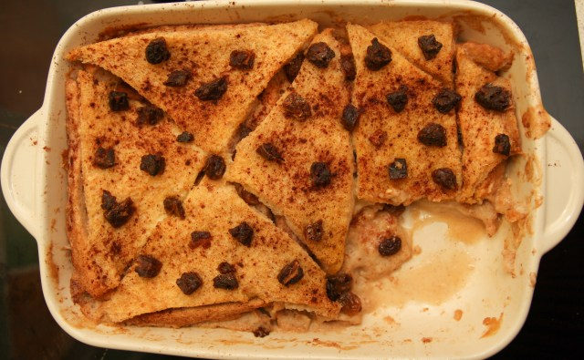 Healthy Bread & Butter Pudding #healthy #glutenfree #refinedsugarfree #eggless #vegan
