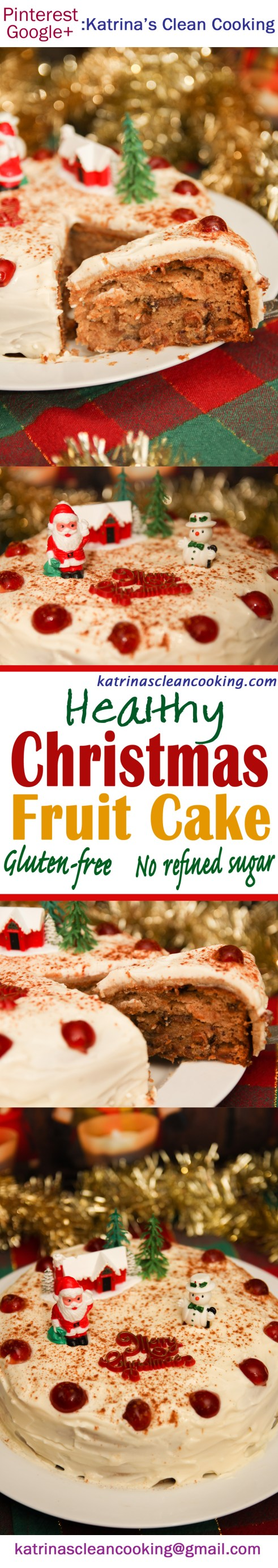 Healthy Christmas Fruit Cake #healthy #christmas #glutenfree #refinedsugarfree