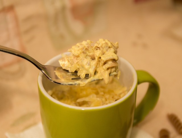 Healthy Macaroni Cheese in a Mug #healthy #singleserve #mugmeal #glutenfree #vegan