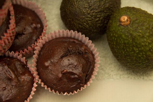 Healthy Chocolate Avocado Muffins #healthy #wholewheat #glutenfree #refinedsugarfree #avocado