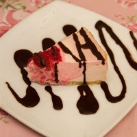 Healthy Rosewater Raspberry Cheesecake