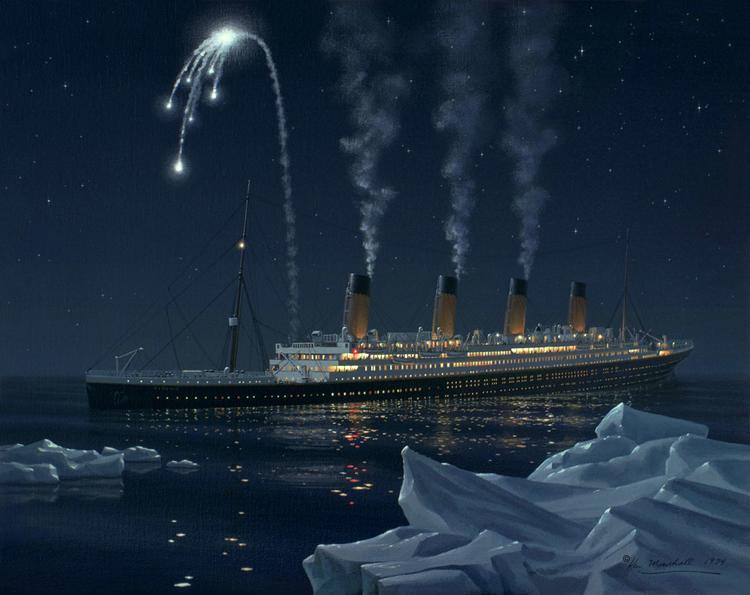 «Титаникте» ақ дабыл зымырандары ұшырылды - Калифорнияда бұл мерекелік сәлем болды деп ойлады