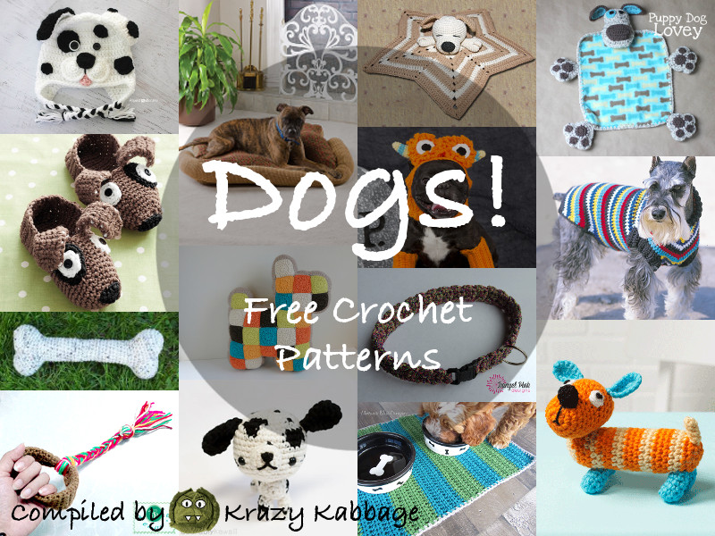 Dog Free Crochet Patterns Krazy Kabbage