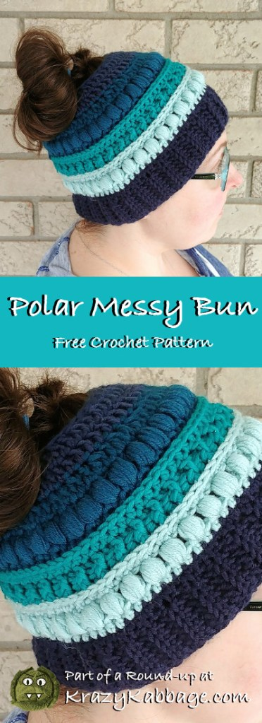 Messy Bun Beanie Hat Free Crochet Patterns Krazy Kabbage
