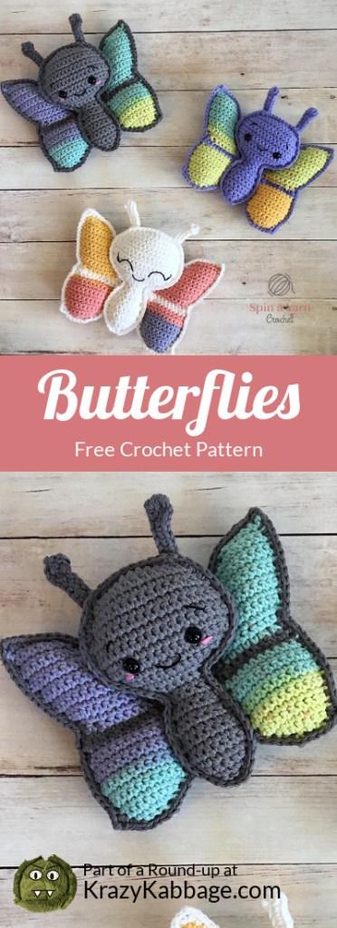 Amigurumi Butterflies Free Crochet Pattern | 1023x372