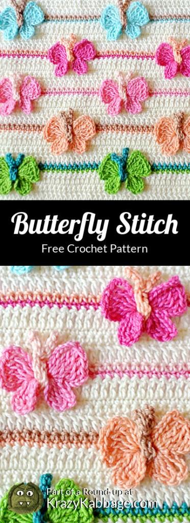 Beautiful Butterflies Free Crochet Patterns – Krazy Kabbage