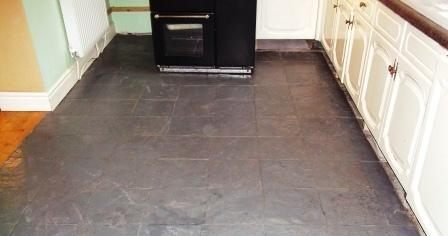 Painted Slate Floor before Restoration
