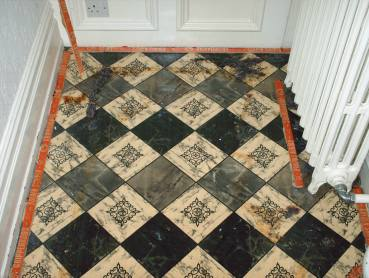 Victorian Floor Covered in Carpet and Lino