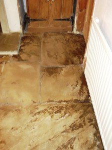 Flagstone Floor After Cleaning