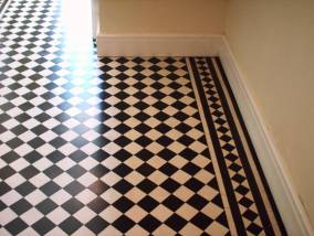 Victorian Tiled Floor After Clean