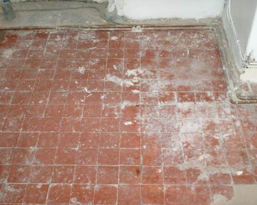 Quarry Tiled Floor Before Restoration