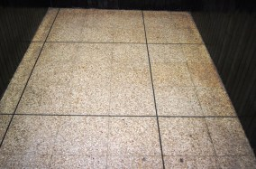 Terrazzo Tile at Wigan Fish and Chip Shop After