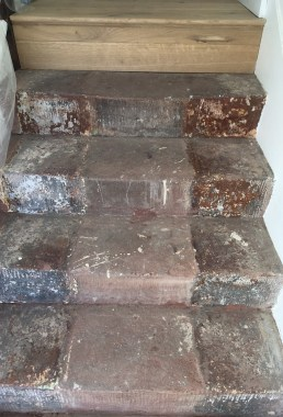 Red jurassic sandstone steps before