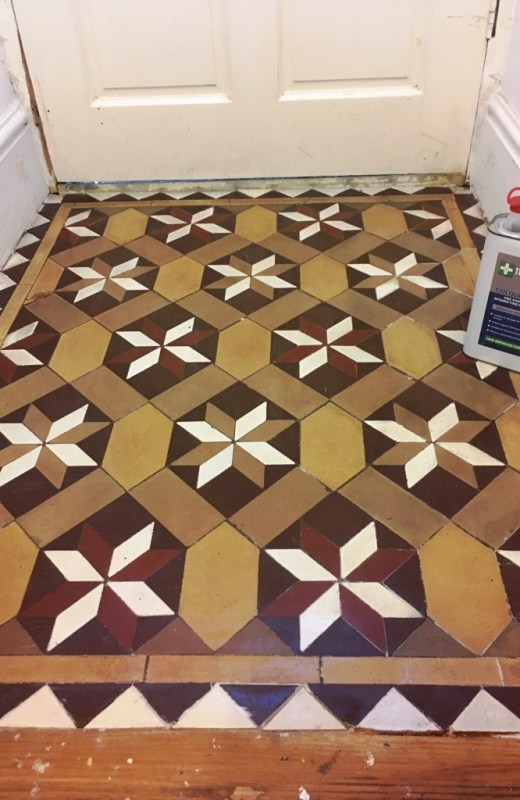 Victorian floor Tile Vestibule Lancaster After