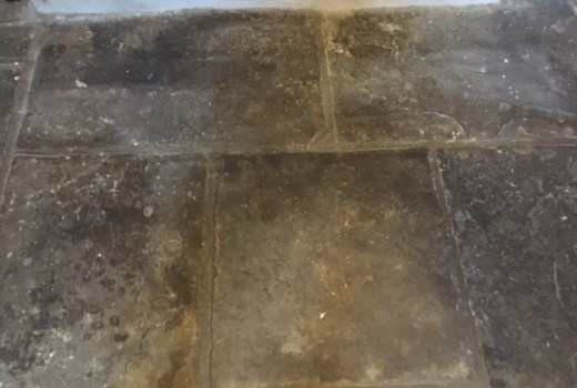 Flagstone Floor Before Milling Haslingdon