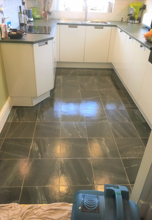 Amtico Vinyl After Cleaning and Sealing in Heysham