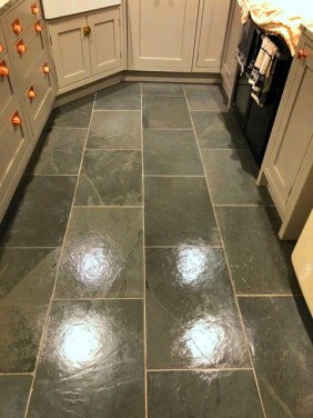 Semi-Riven Slate floor After Cleaning Hornby