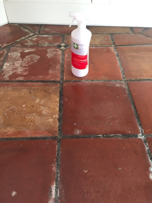 Mexican Terracotta Floor Penwortham During Cleaning