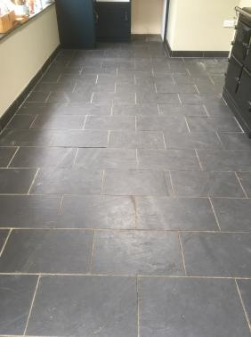 Slate Floor Before Cleaning High Bentham