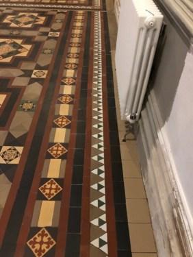 Victorian Tiled Floor Stone Cross Manor Hall After Restoration