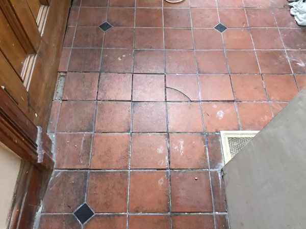 Quarry Tiled Floor Lancaster Before Repair