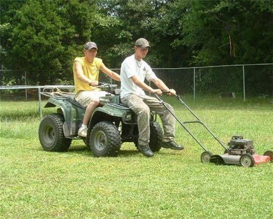 Redneck Riding Lawnmower
