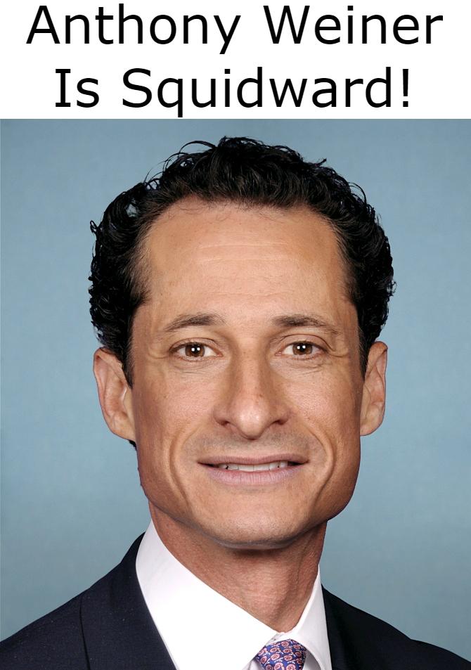 Anthony Weiner Is Squidward
