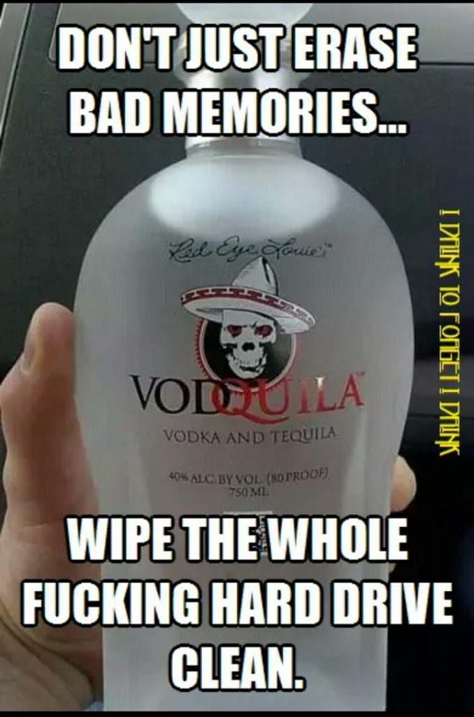 Wipe It Clean with vodka tequila
