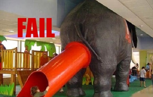 Elephant Slide Fail image